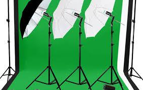 photography photo studio umbrella lighting 3 backdrop stand muslin light kit set