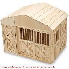 kids melissa doug folding wooden horse le dollhouse with fence toys ing 555346934
