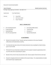 High School Student Resume Templates For High School Students Resume