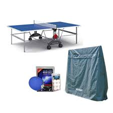 details about kettler top star xl weatherproof table tennis table with accessory bundle