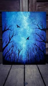 truly tantalizing and inspiring tree art sillouette paintingacrylic
