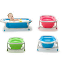portable foldable baby bathtub kid bather space saving bath tub 3 colours available