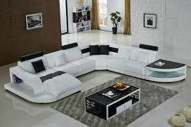 U Shaped Couch Living Room Furniture Living Room White Sectional U Shape Sofa With Rugs Glass Coffee
