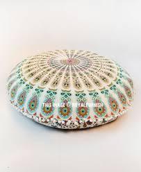 multi medallion mandala round floor pillow cover 32 inch outdoor cushion cover royalfurnish com