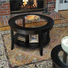 30 inch glass top round coffee table bay s collection f68507 30 inch round coffee table