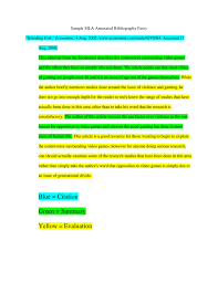 Annotated Y Example Mla Examples Internet Sources Bibliography Apa
