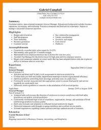... Job Description Restaurant Management Resumes Restaurant General  Manager Resume 19 Cvjob Resumegeneral Bar Sample Resumes Objective Free ...
