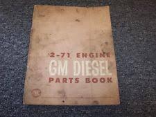 detroit diesel parts manual detroit diesel gm 2 71 engine factory original parts catalog manual book