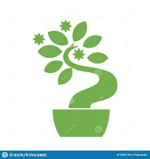 Bonsai Web Design Bonsai Icon On Background For Graphic And Web Design Simple