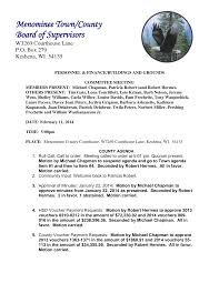 Menominee Town/County Board of Supervisors
