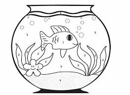 Small Picture Fish Bowl Coloring Pages Gekimoe 24282