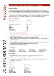 Entry Level Help Desk Resumes Student Entry Level Helpdesk Resume Template