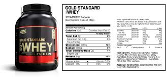 this edition strawberry banana flavored optimum nutrition gold standard 100 whey powder which is made from eight separate ings that we ve broken