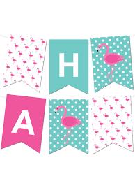 Flamingo Polka Dot Pennant Banner Chicfetti