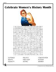 Womens History Month Word Search Woo Jr Kids Activities