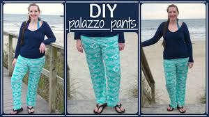 how to sew palazzo pants yoga style waist stretch fabric diy