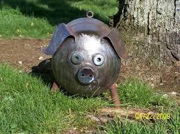 image detail for s metal art yard garden art pot belly pig by ricksmetalworks