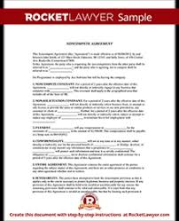 Noncompete Clause Noncompete Agreement Form Noncompete Clause Rocket Lawyer
