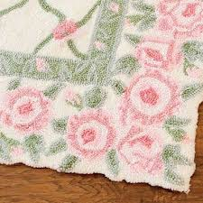 glenna jean isabella rosebud hooked wool rug