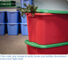 christmas storage containers. Color Coding On Christmas Storage Containers