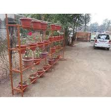outdoor iron plant hanger stand