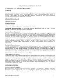 Database Analyst Job Description It Analyst Job Description Resume