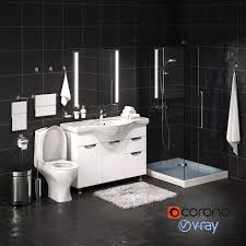 Browse a large selection of modern bathroom vanity designs, including single and double vanity options in a wide range of sizes, finishes and modern bathroom vanities. Set Of Bathroom Equipment And Accessories For Bathrooms By Rnax 3docean