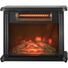 infrared quartz space room heater electric stove fireplace flame effect portable