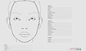 Free Printable Face Charts For Makeup Artists Printable Makeup Face Charts Saubhaya Makeup