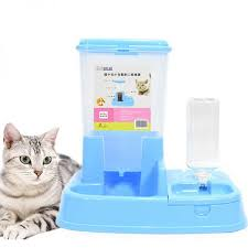 Dog Bowl Blue Automatic Feeder <b>Cat Bowl Double</b> Automatic ...