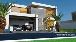 3D Front Elevation Com Beautiful Contemporary House Design 2016 Inside