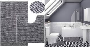 lochas gy chenille bathroom rug set 2 piece plush bath rugs mats water absorbent is for 15 99 at com