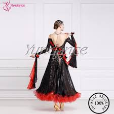 B Modern Costume Designer Us 335 0 Sexy Women Modern Dance Skirt Dress Ballroom Waltz Tango Dance Wear With Ostrich Feather B 14346 In Ballroom From Novelty Special Use On