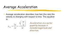 2 average acceleration
