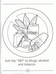 Red Ribbon Color Pages Say No To Drugs Coloring Pages