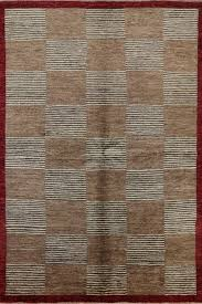 shades of brown hand knotted checd super fine gabbeh wool 6x9 area rug h6933 traditional area rugs by manhattan rugs