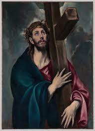 christ carrying the cross el greco domenikos theotokopoulos  christ carrying the cross