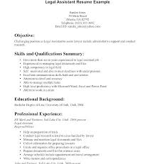 Immigration Law Paralegal Resume Legal Objective Sample Resumes