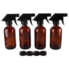 2018 250ml 8oz amber glass spray stream bottle w black trigger