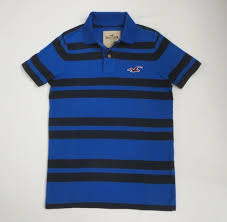 details about nwt hollister mens polo shirt striped vine muscle fit blue size medum