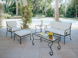 white iron patio furniture. Exellent Patio Beauteous Wrought Iron Wicker Outdoor Furniture White Curtain Style And  Luxurious Patio Tablejpg Gallery On