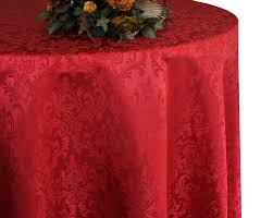 120 round jacquard damask polyester tablecloth apple red 1pc pk