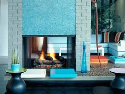mosaic tile fireplace surround trending i love the blue and white tile around the fireplace