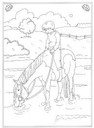Kids N Fun 24 Kleurplaten Van Op De Manege Kleurplaat Paarden
