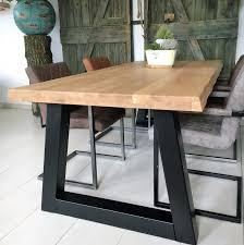 Holztisch Esstisch Eiche Massiv Baumstamm Kante Inkl Tischfüße