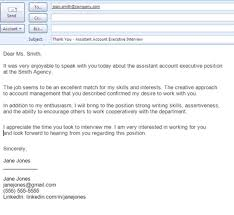 Thank You Email After Interview Subject Line Cover Letter