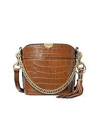 Extra-Small Bea <b>Croc</b>-Embossed Leather <b>Bucket Bag</b>