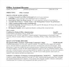 Medical Resume Resume Of A Medical Assistant Wikirian Com