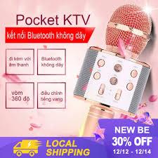 Mua Mic Hát Karaoke Bluetooth Không Dây Kèm loa Âm vang Ấm mic hát karaoke  cầm tay mini micro hát trên xe hơi mic hát karaoke hay nhất hiện nay giá chỉ