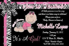 Baby Shower Invitations Zebra Print Pink Zebra Print Baby Shower Pink Zebra Baby Shower Invitations